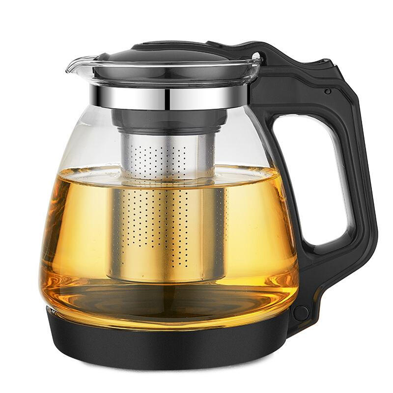 紫丁香 玻璃泡茶壶 加厚耐热 过滤花茶水壶防撞底保护耐用办公功夫玻璃茶具1700ml
